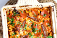 Pasta Bake with Hodgins Gluten Free Sausages