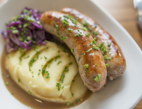 Red Cabbage and Gluten Free Sausages