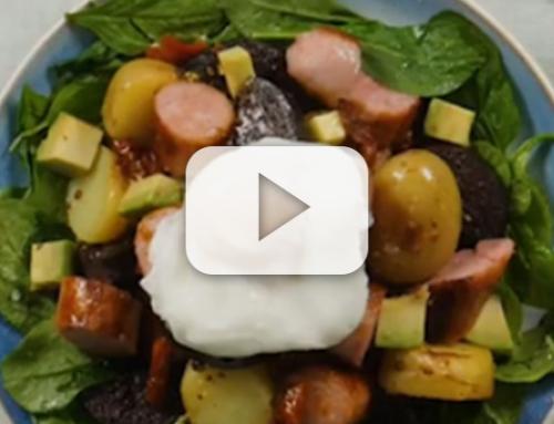 Warm Breakfast Salad Bowl