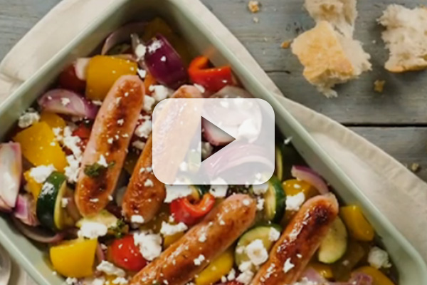 Roasted Sausage with Summer Vegetables