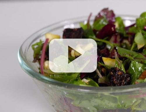 Feta, Apple & Black Pudding Salad