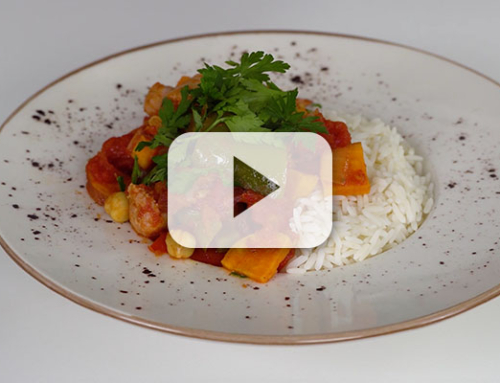 Smokey Sausage Casserole with Pancetta & Sweet Potato