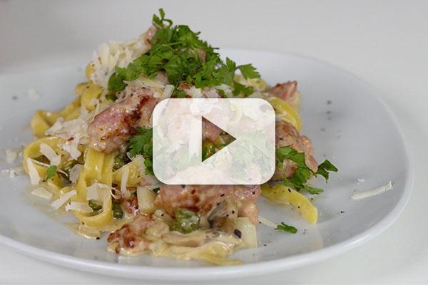 Creamy Italian Sausage Tagliatelle